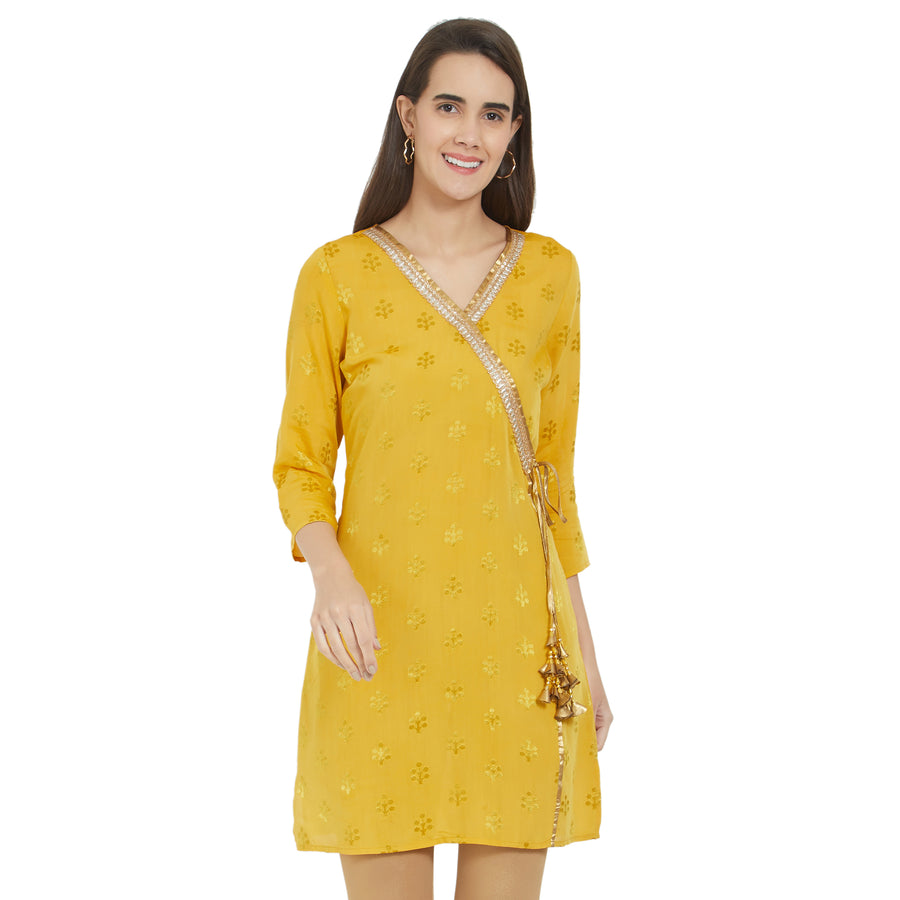 Fusion Beats Yellow Festive Tunic