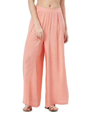 Blush Culotte with Drawstring Closure