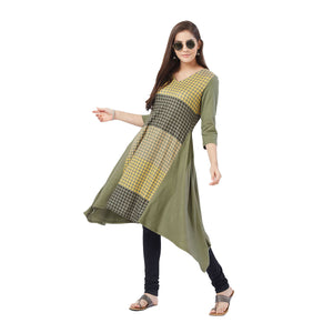 Oilve Checked Kurta