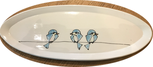 Birds on a Wire Oval Plate