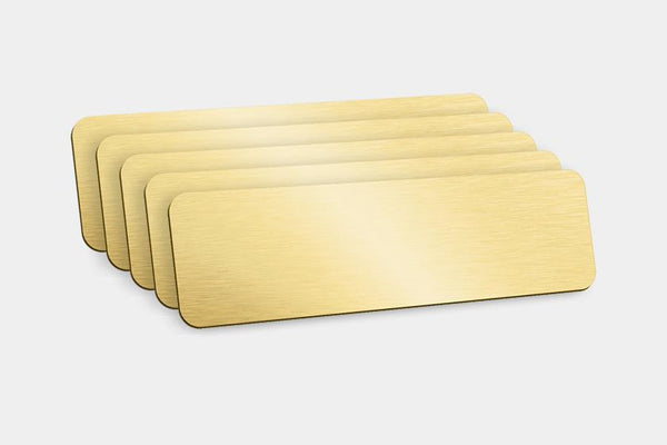Blank Badges - Gold Blank Badges (Pack Of 5)