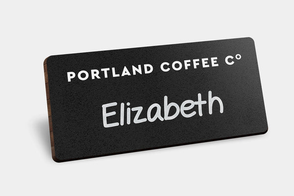 Name Badges - Chalkboard Bamboo Badges