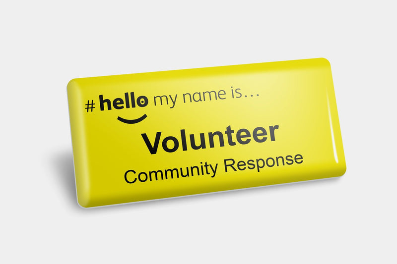 Name Badges - Community Response Volunteer NHS Name Badge