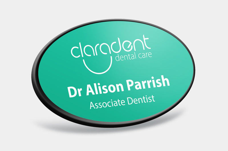 Name Badges - Oval Framed Name Badges