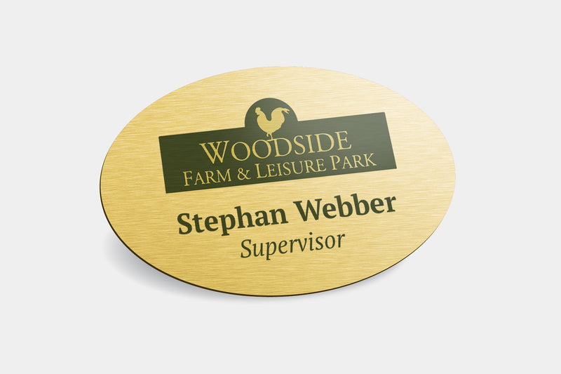 Name Badges - Oval Metal Name Badges