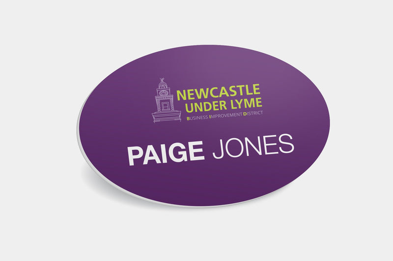Name Badges - Oval Plastic Name Badge