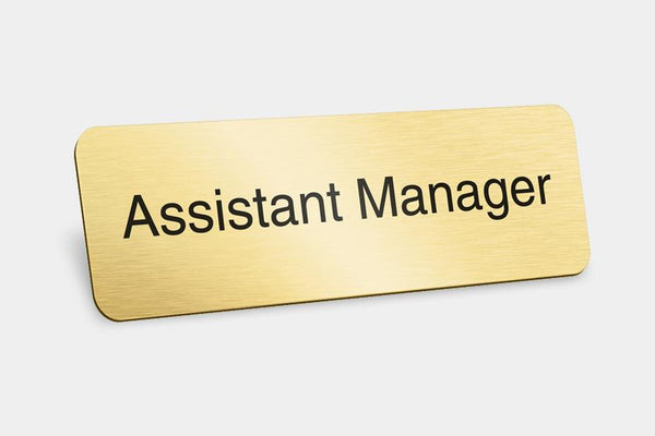 Printed Badges - Assistant Manager Badges (Pack Of 5)