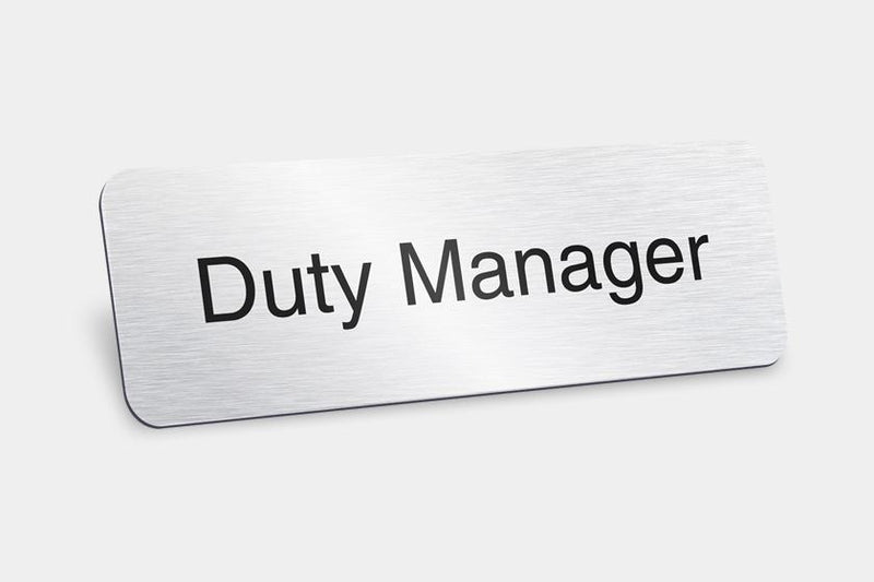 Printed Badges - Duty Manager Badges (Pack Of 5)