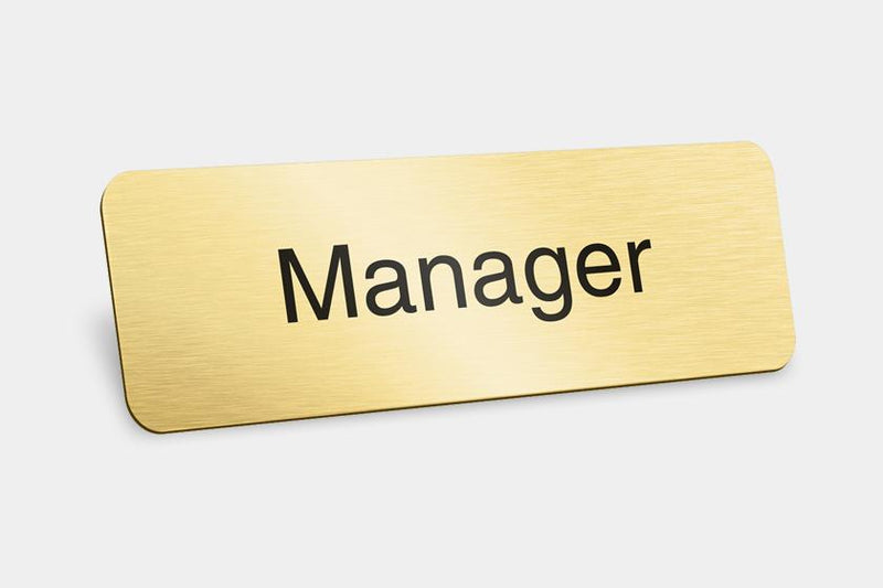 Printed Badges - Manager Badges (Pack Of 5)