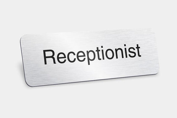 Printed Badges - Receptionist Badges (Pack Of 5)