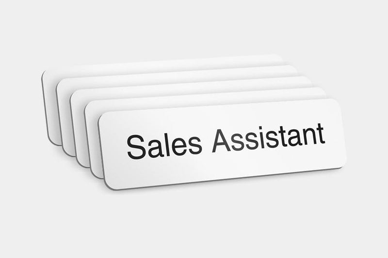 Printed Badges - Sales Assistant Badges (Pack Of 5)