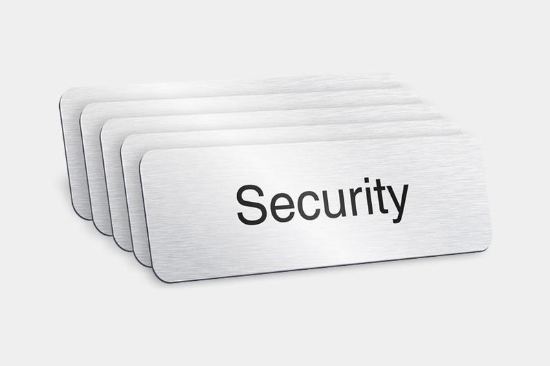 Printed Badges - Security Badges (Pack Of 5)