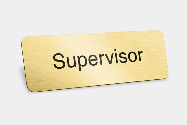 Printed Badges - Supervisor Badges (Pack Of 5)
