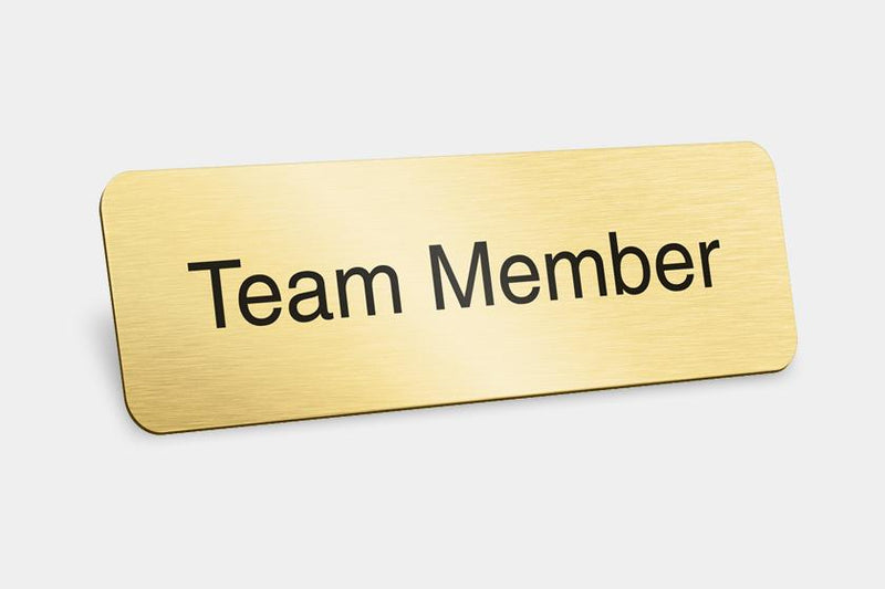 Printed Badges - Team Member Badges (Pack Of 5)