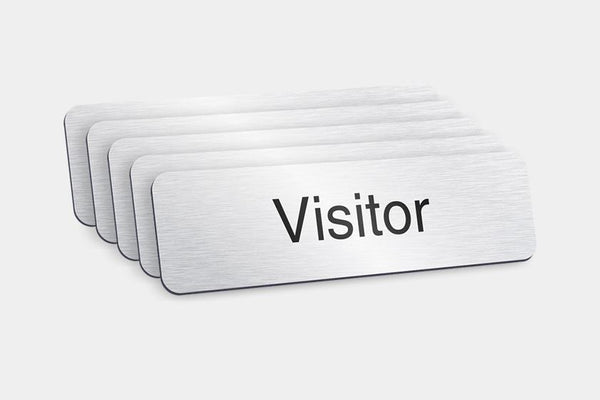 Printed Badges - Visitor Badges (Pack Of 5)