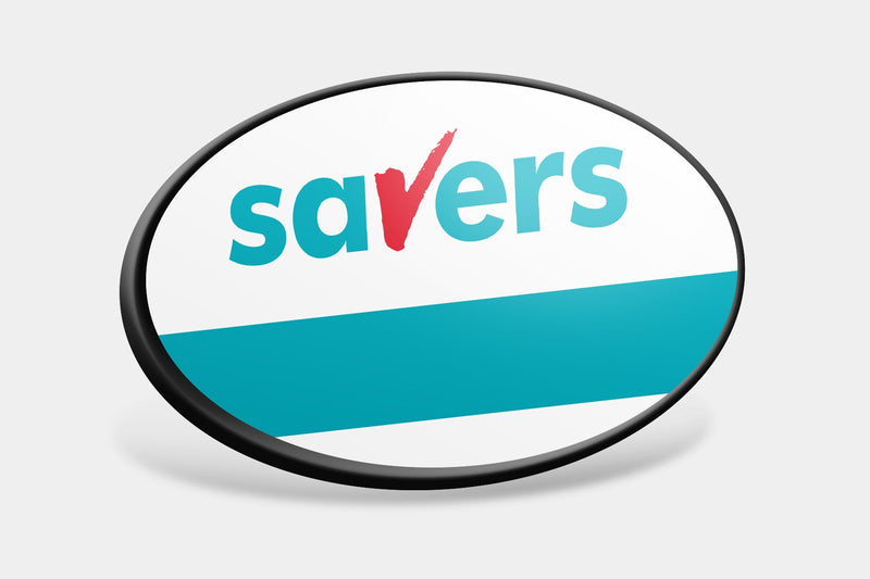 Reusable Name Badges - Oval Framed Reusable Name Badges