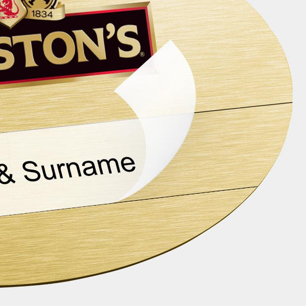 Reusable Name Badges - Oval Metal Reusable Name Badges