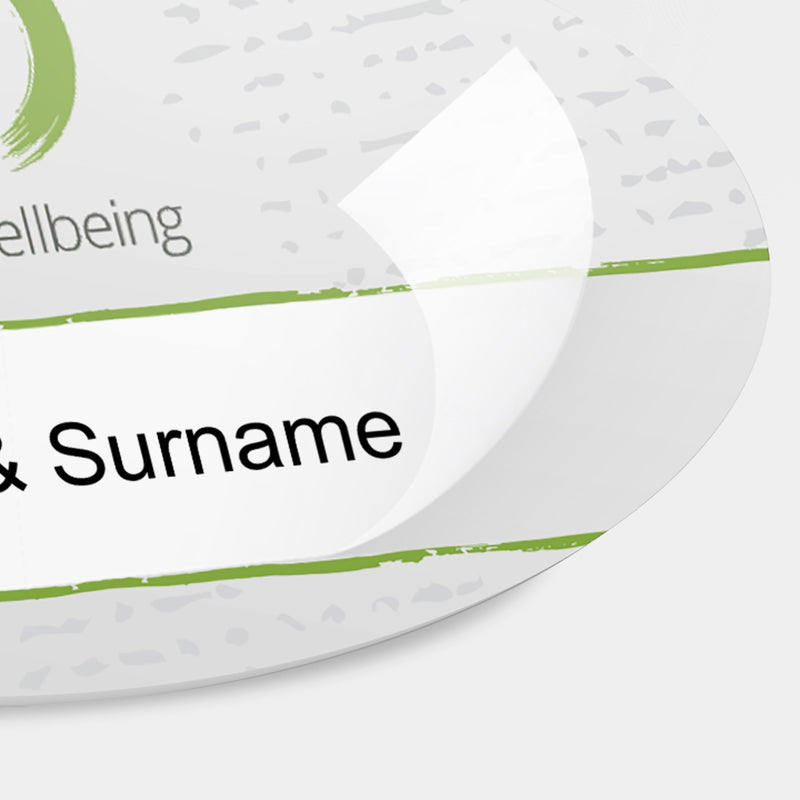 Reusable Name Badges - Oval Plastic Reusable Name Badge