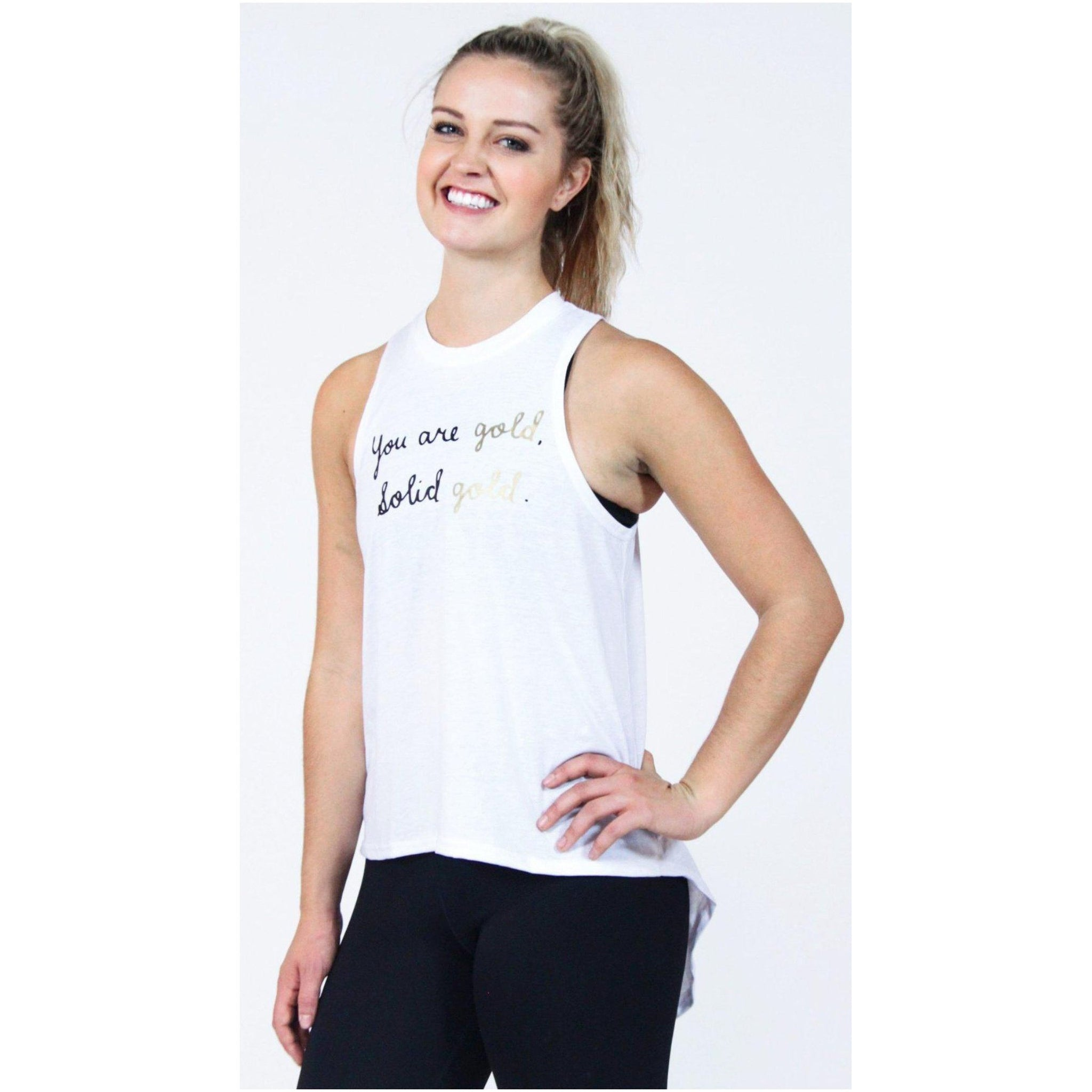 """You are gold, solid gold!"" Tee - Brooke Taylor Active"