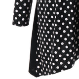 Plus Size Polka Dot Ruched Asymmetric Top