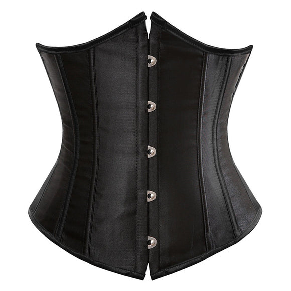 Back Lace Up Plus Size Corset - black