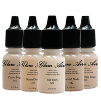 Glam Air Airbrush Water-based Foundation in 5 Assorted Light Matte Shades (for Normal To oily Light/Fair skin)