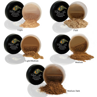 Glam Air Mineral Foundation, Natural Perfection Powder Foundation Compare with Bare Minerals and MAC Mineralize ( Dark)