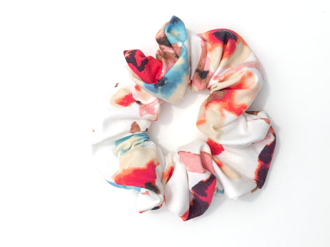 Delicate Watercolor Scrunchie