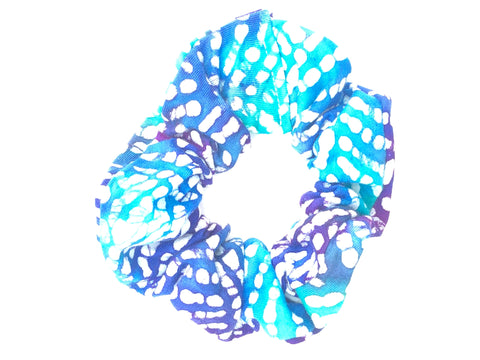 Blue and Teal  Scrunchie