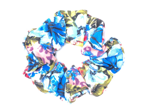 Hawaiian Floral Scrunchie