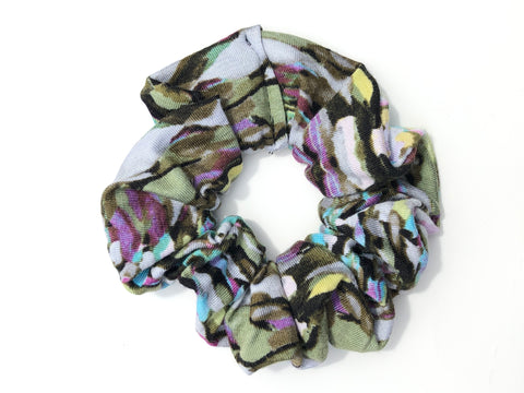 Colorful Camo Scrunchie