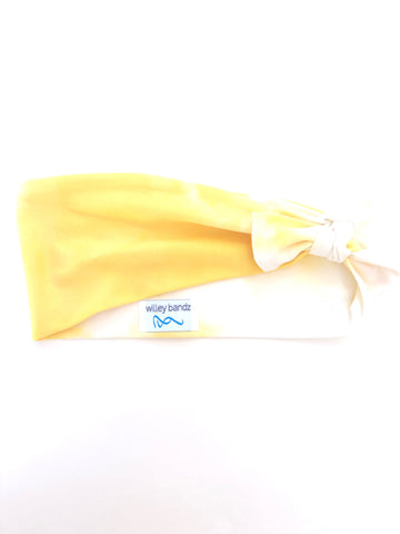 Yellow Tie-Dye 3-inch Headband