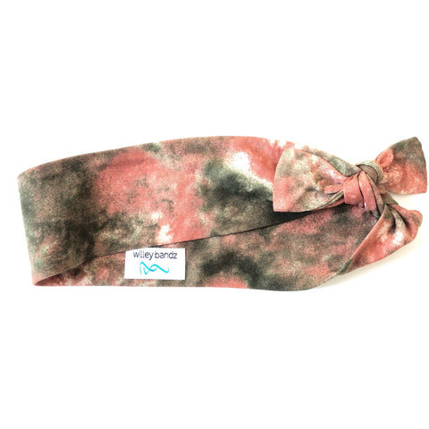 Rust and Olive Tie-Dye 2-inch headband