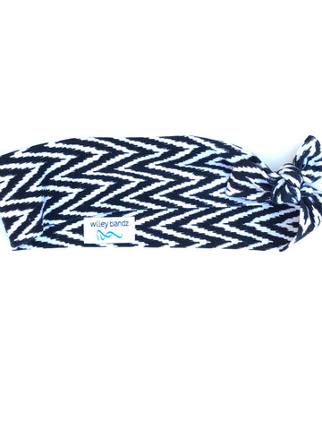 Black and White Chevron 2-inch headband