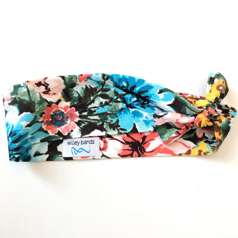 Floral on Yellow Leopard 2-inch headband