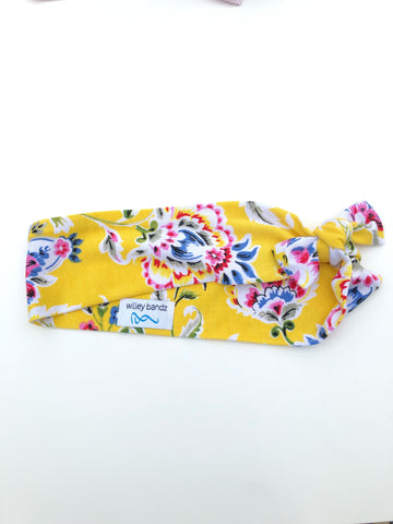 Yellow Floral 2-inch headband