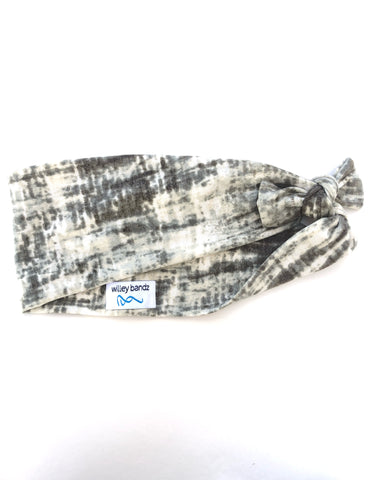 Olive and Grey Tie-Dye 3-inch Headband