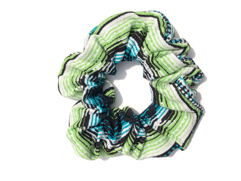 Shade of Green Stripes Scrunchie