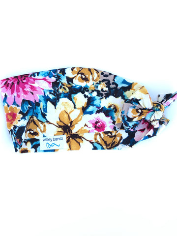 "Floral on Leopard 3"" Headband"