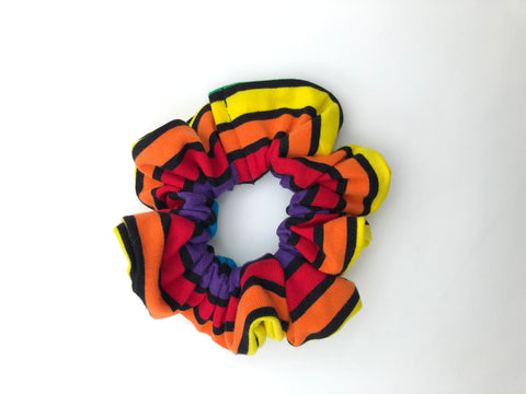 Rainbow Stripe Scrunchie