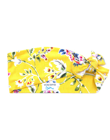 Yellow Floral 3-inch headband