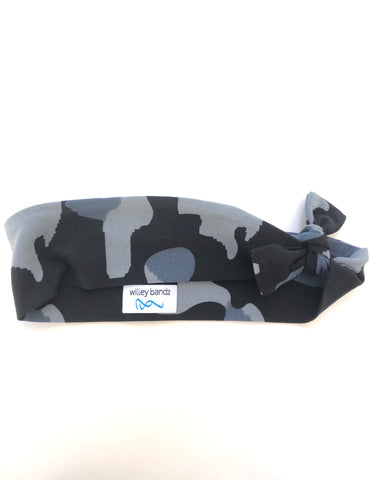 Blue and Grey Camo 2-inch headband