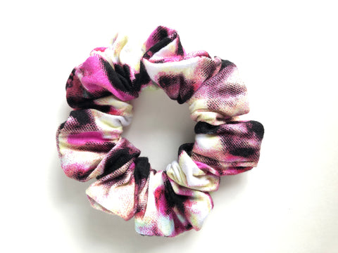 Shade of Yellow Pink and Black Scrunchie