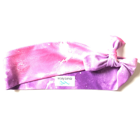 Pink and Purple Galaxy 2-inch headband