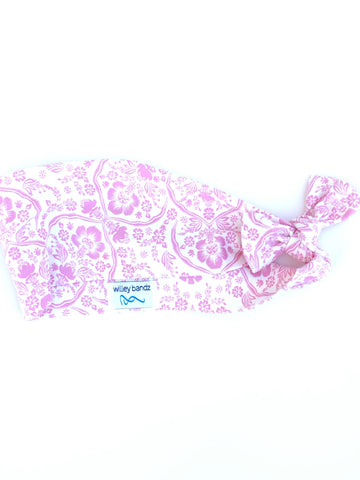 "Pink Floral 3"" Headband"