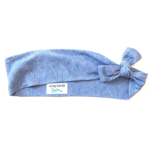 Heathered Blue 2-inch headband