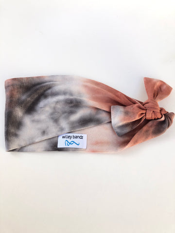 Earth Tone Tie-Dye 3-inch Headband