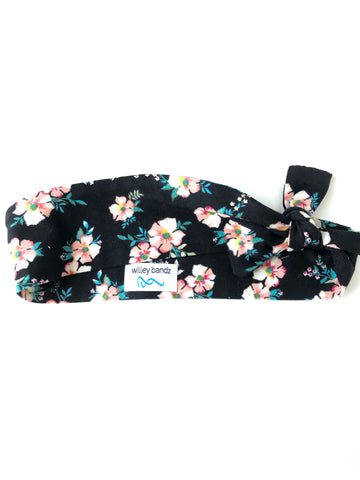 Sweet Floral on Black 2-inch headband