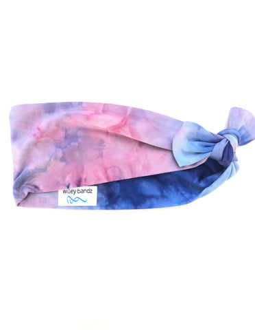 Pink and Blue Tie-Dye 3-inch Headband