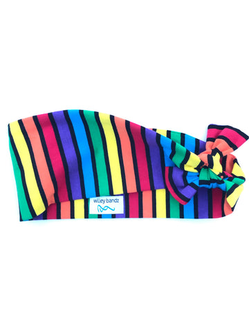 Rainbow Striped 3-inch headband